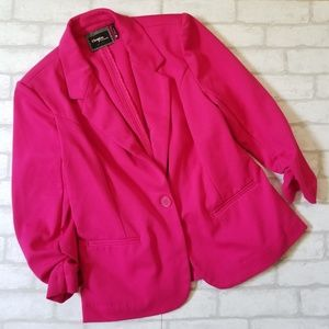 Christian Siriano Knit Blazer Fushia Pink Medium